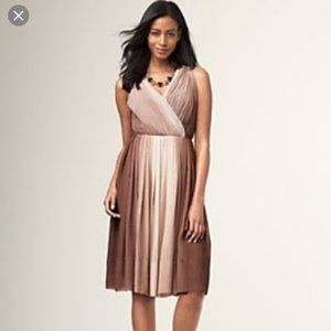 TALBOTS Pleated Ombre Cocktail Dress